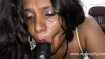 Big tits porn video sexy indian babe lily squeezing boobs moaning